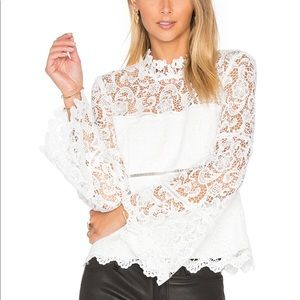 Bardot for Revolve lace top
